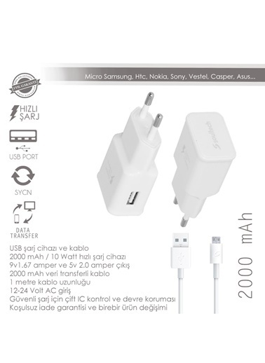 2.1 Mah Mıcro Fast Usb Charger Comfort-Soultech